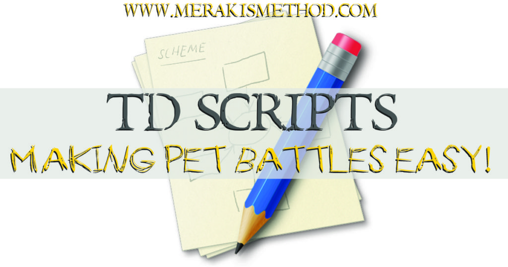 Want to automate all your regular pet battles to take the hassle and time consumption out of pet battles and rewards? TD Scripts are the answer!